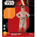 Deluxe Rey Girls Fancy Dress Disney Star Wars Force Awakens Kids Childs Costume