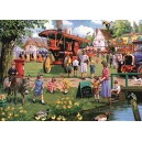 Falcon de luxe The Village Green Jigsaw Puzzles in one Box (4 x 1000