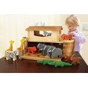 EverEarth EE33727  Giant Noah's Ark  Playset with 14 Animals/Bamboo/Wood