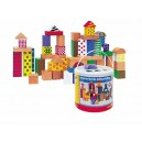 Woodyland Toddler Blocks in a Bucket with a Shape Sorting Lid (50