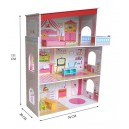 Kiddi Style Wooden Tall Classic Mansion Doll House with Furniture