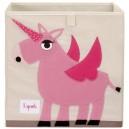 3 sprouts Storage Box, Pink Unicorn