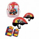 blaze and the monster machine OBMM004 Protections Helmet/Knees/Elbows Pads in a Crystal Bag