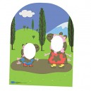 Star Cutouts SC822  Peppa Pig and George Muddy Puddle Child Sized Stand In  Cardboard Cut out
