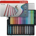 STABILO Pen 68 Metal Box of 40 colours