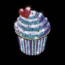 Sequin Art Style Cupcake
