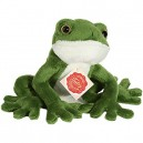 Hermann Teddy Collection 920205 15 cm Frog Plush Toy