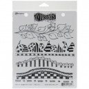 Dylusions Stamps Rubber Further Around the Edge Cling Stamps,