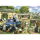 Falcon de luxe Seasons on The Farm Jigsaw Puzzles in One Box (4 x 1000