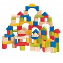 Woodyland Didactic Toys Toddler Wooden Blocks (100