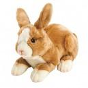 Suki Gifts Yomiko Classics Jungle and Wildlife Lying Rabbit (Medium, Beige/ White)