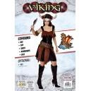 Bristol Novelty AC883 Viking Lady Costume, Brown, Size 10