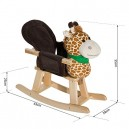 HOMCOM Animal Rocking Ride on Toy Chair for Kids with 32 Songs (Giraffe)