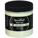 Speedball Art Products Night Glo Fabric Screen Printing Ink 8 oz White