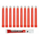 Cyalume SnapLight Red Glow Sticks – 6 Inch Industrial Grade, Ultra Bright Light Sticks with 12 Hour Duration (Pack of 100)