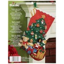 Bucilla Under The Tree Stocking Felt Applique Kit