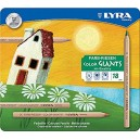 Lyra Color Giants Natural Colouring Pencils, Assorted Unpainted 18 Farbstifte