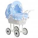 My Sweet Baby Unique Dolls Pram Model 71699 (Blue)