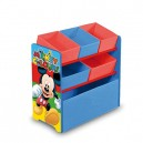 Arditex – Mickey Mouse 008330 Fabric Wooden Storage Unit – 6 Shelves –