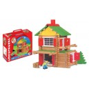 Jeujura JeujuraJ8003 Wooden Construction Chalet in a Suitcase (135