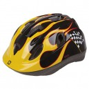 MIGHTY Kids' Junior Race S Bicycle Helmet, Black/Yellow, 52