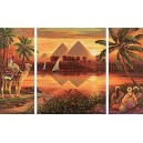 Schipper 609260442 Pyramids on The Nile Paint By Numbers Board