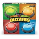 Learning Resources Lights and Sounds Buzzers, set o f 4