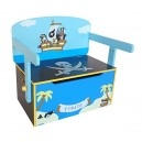Kiddi Style Children's Pirate Wooden Convertible Toy Box, 63 x 34 x 57 cm