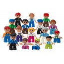 Play Build Community Figures Set – 16 Pieces – Bulk Starter Kit Includes Police Man, Farmer, Fire Fighter, Conductor, Mom, Dad,
