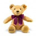 Steiff 113321 2018 Cosy Year Bear Toy, Golden Brown