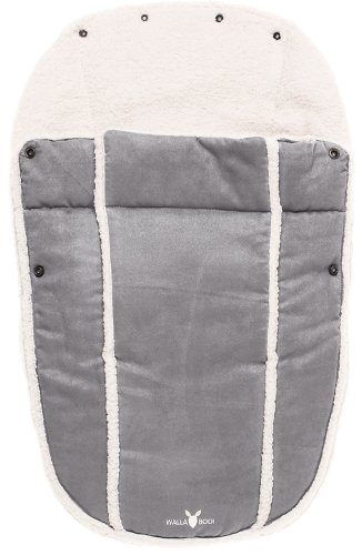 Wallaboo Footmuff Faux Suede and Soft shearling