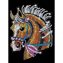 sequin art 1517 Blue Horse Craft Art