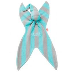 Cuski Original Fabby Bright Cotton Terry Baby Comforter, Mint/ Grey