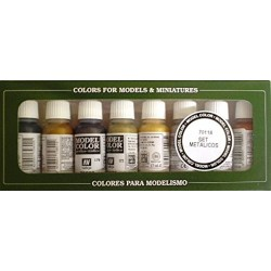 Vallejo Model Color Metallic Acrylic Paint Set