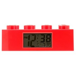LEGO Red Brick Kids Light Up Alarm Clock | red | plastic | 2.75 inches tall | LCD display | boy girl | official