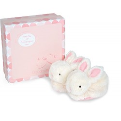 Doudou et Compagnie DC1308 Pink Lapin Bonbon Botties with Rattle (0