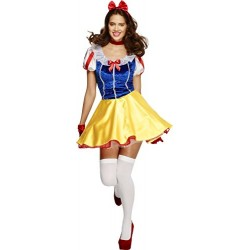 Fever Adult Women's Fairytale Costume, Dress Attached Underskirt, Headband and Choker, Once Upon a Time, Size S, 30195