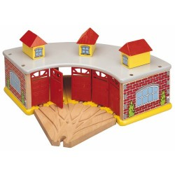 Toys For Play The Big Train Round House with 5