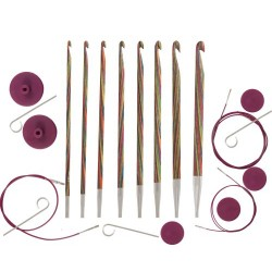 KnitPro Symfonie Crochet Hook Set Tunisian, Multi