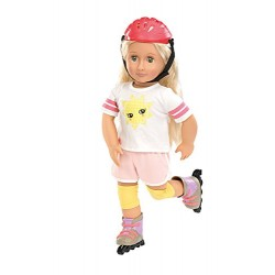 Our Generation Roll With It Doll Outfit Skates and Helmet