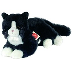 Hermann Teddy Collection 906797 25 cm Black Cat Plush Toy
