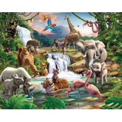 Walltastic Jungle Adventure Wallpaper Mural 8ft x 10ft