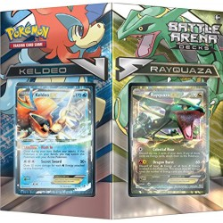 Pokemon POK80168 TCG Battle Arena Deck Rayquaza vs Keldeo Card Game