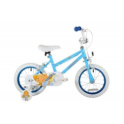 Sonic Angel Girls' Kids Bike Blue 1 speed mag style wheels fully enclosed chainguard and easy reach brakes