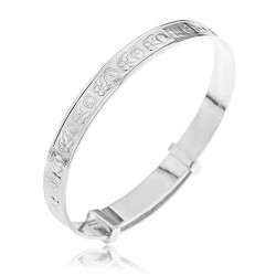 Ornami Teddy Sterling Silver Expander Bangle for Babies