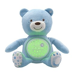 Chicco First Dreams Baby Bear Blue Musical Night Light Plush Teddy Toy