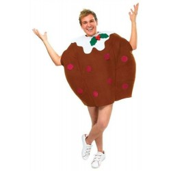 Bristol Novelty AC905 Christmas Pudding Costume, Brown, Chest Size 44