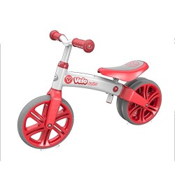 Yvolution Velo Kids' Kids Bike Red, aluminium frame, 1 speed lightweight but strong aluminium frame rubber over