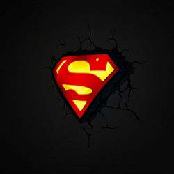 3DLightFX Super Man Logo Light