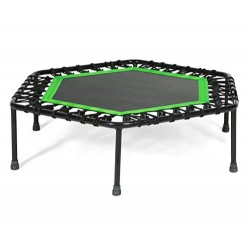 SportPlus Fitness Trampoline with Handle and Adjustable Handrail – Rebounder Ideal for Home Cardio Workout Training – Silent Bo